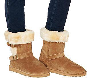 Lamo Suede Water Resistant Boots w/ Faux Fur - Cresson