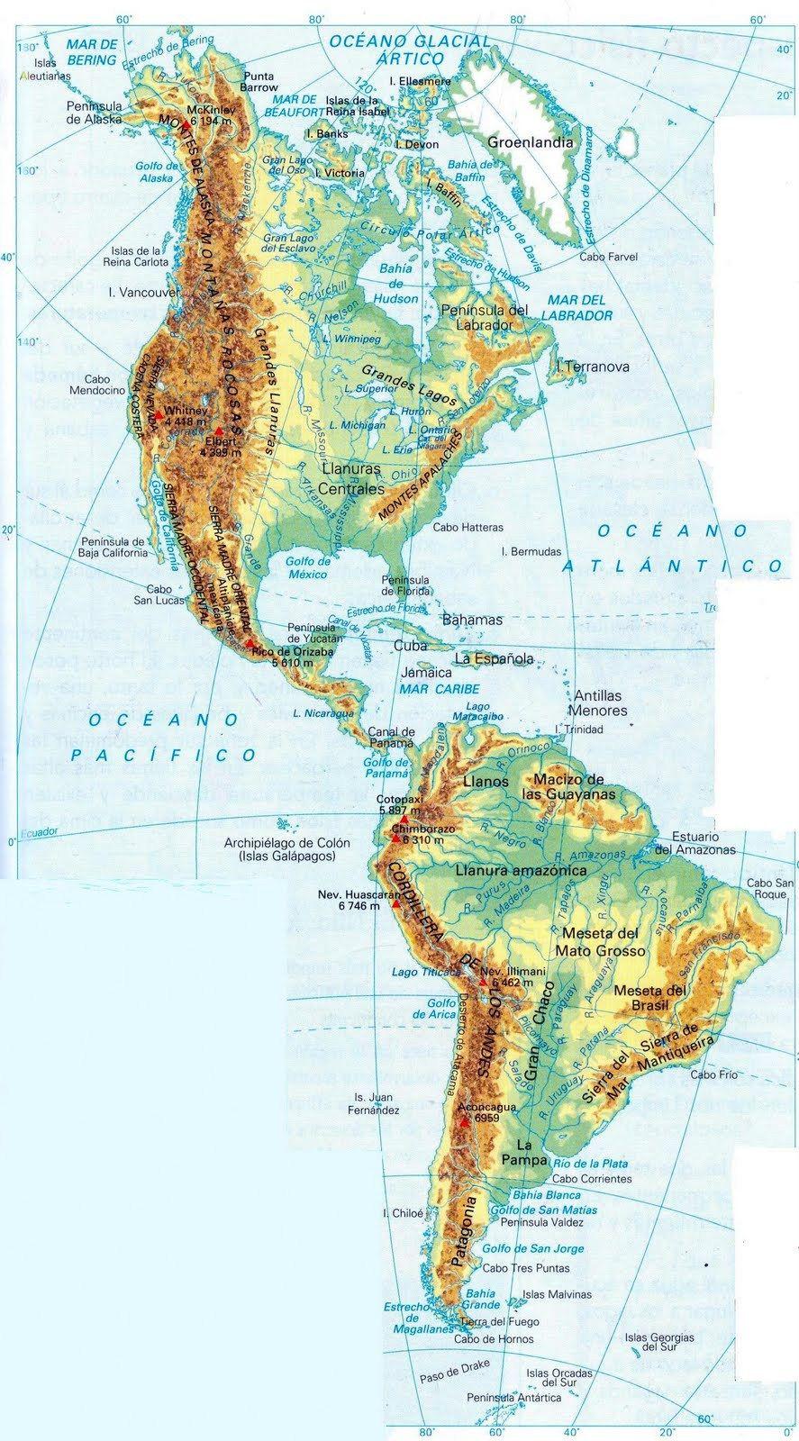 Mapa Interactivo America Politico.Pin De Cristian En Mapas Mapa De America Mapa Fisico De