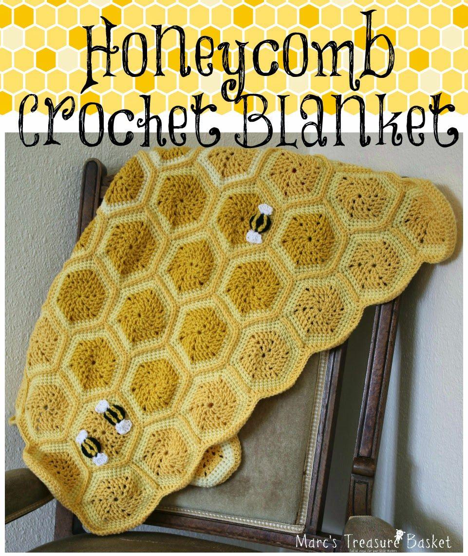 Honeycomb Crochet Baby\'s Blanket | For the Kids | Pinterest | Stoffe ...