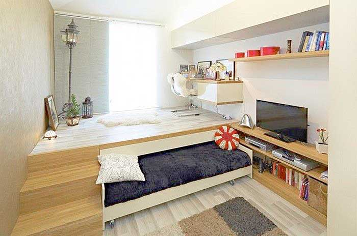 32 Really Clever Bed Solutions For Small Spaces Space Saving Bed Design Studio Apartment Bed Bedroom Design