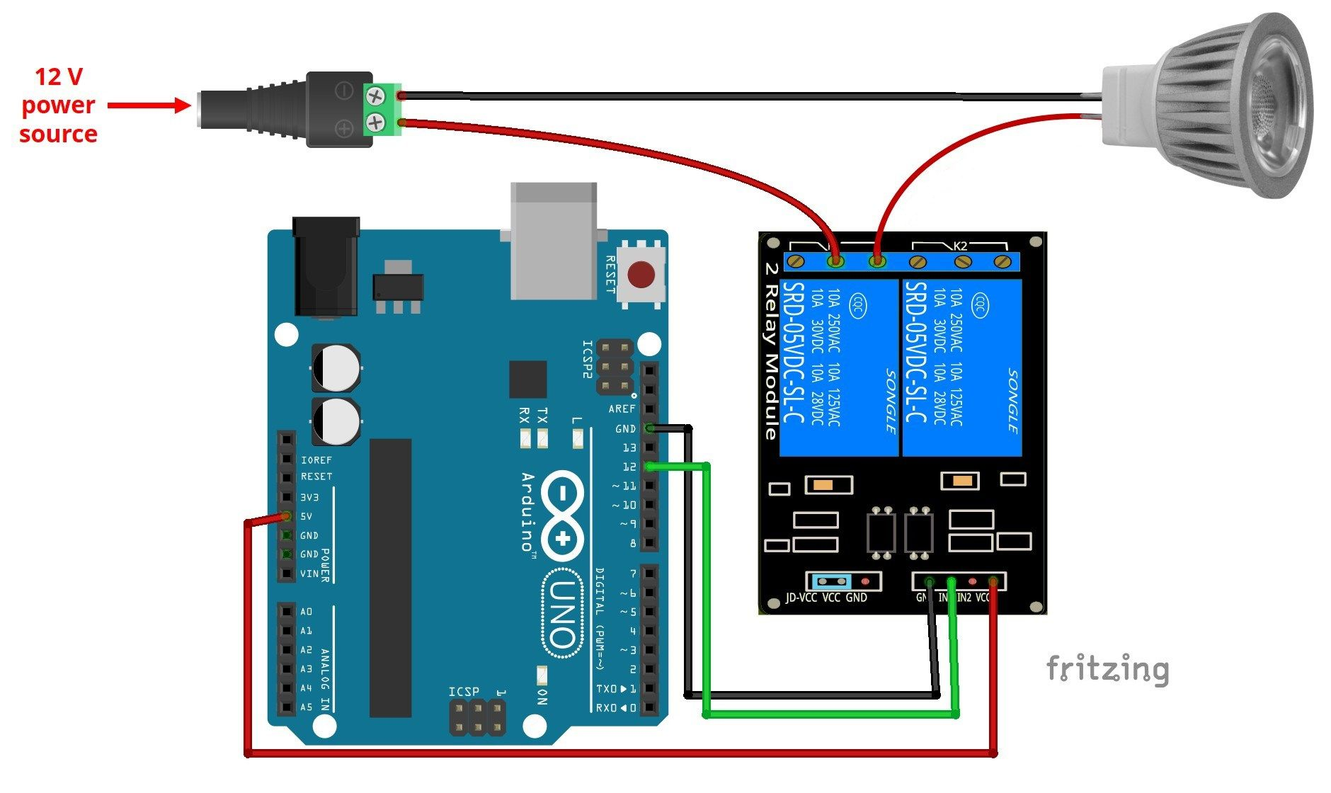 Control 12v Lamp Via Sms With Arduino With Images