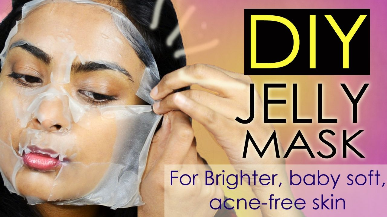 DIY Sheet Mask Brightening, Anti Aging Jelly Mask For