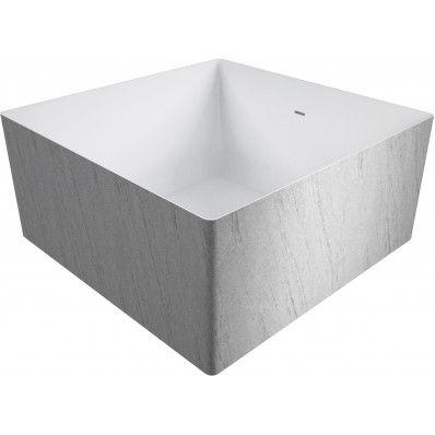 Vasca quadrata in polymineral modello Mywater