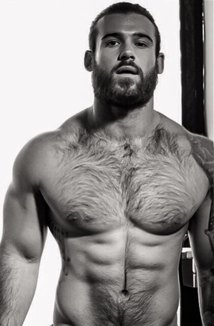 hot black hairy muscle big