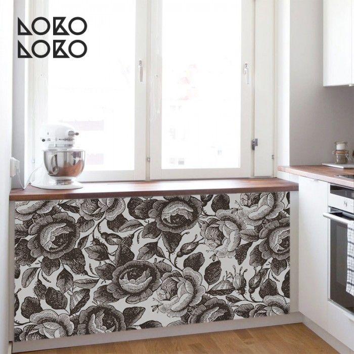 Estampado floral marrón | Muebles de cocina, Marrón y Estampados de ...