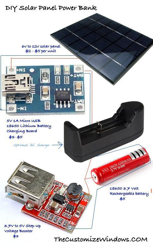 Diy Solar Panel Power Bank Trial For Home Solar Power Di 2020 Rangkaian Elektronik Teknologi Fisika