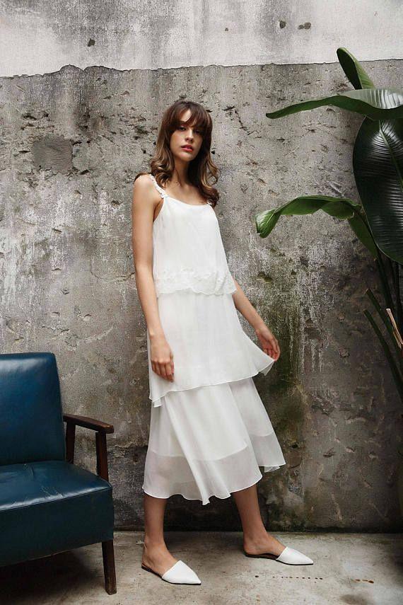 Silk   Lace Tunic Dress  04592116735