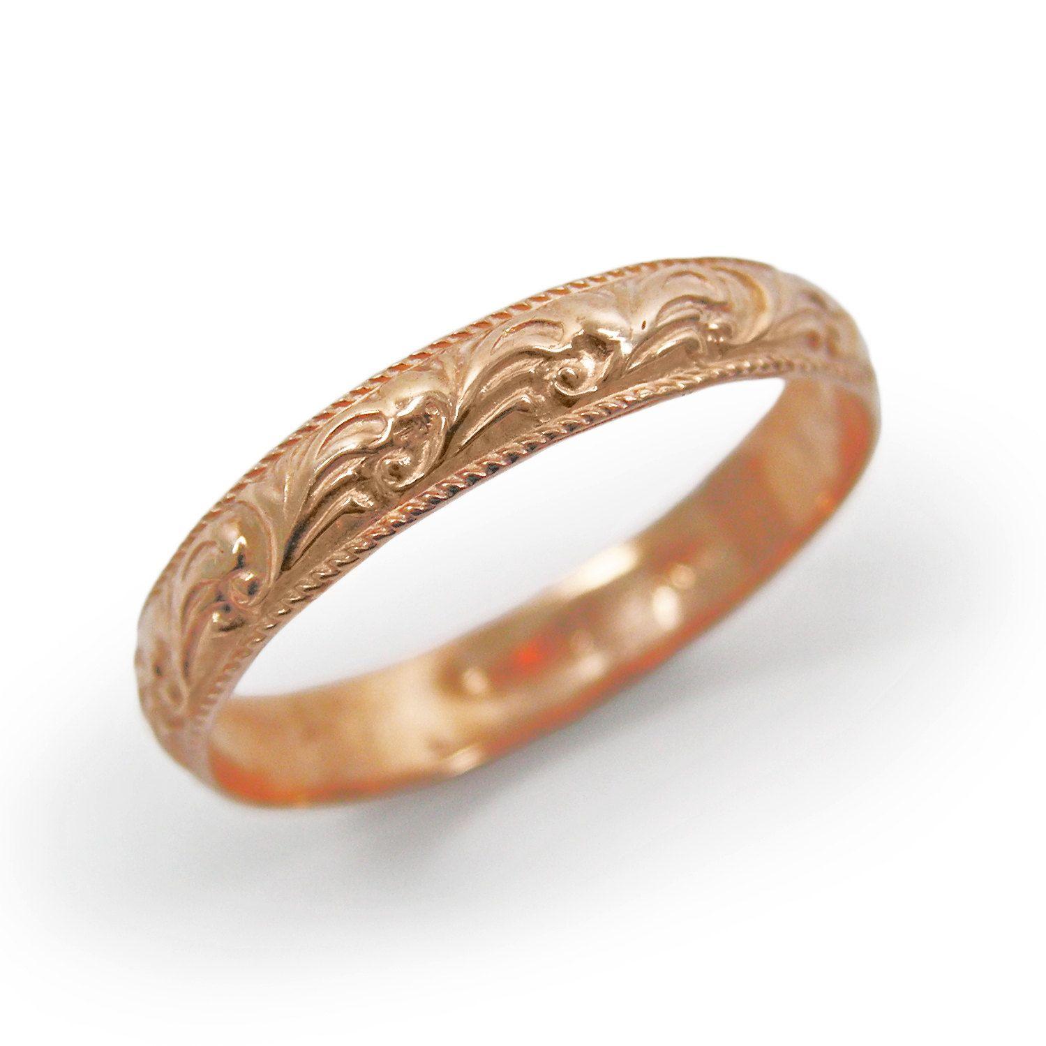 Marrocan Rose Gold Fl Design Ring Or Wedding Band Gr 9154 247 00