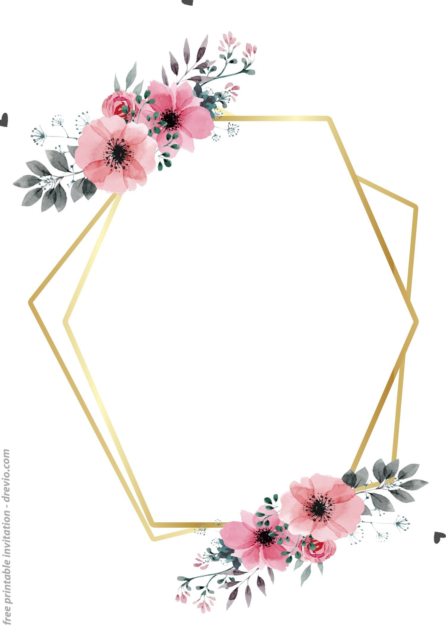 24++ FREE Printable Floral Watercolor Invitation Templates for ANY OCCASIONS (com imagens