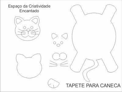Espaço da Criatividade Encantado : TAPETE DE CANECAS, DESCANSO E ...