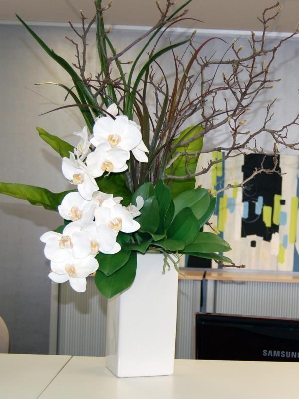 41 White Phal Willow Rectangular Ceramic Vase Shop Online