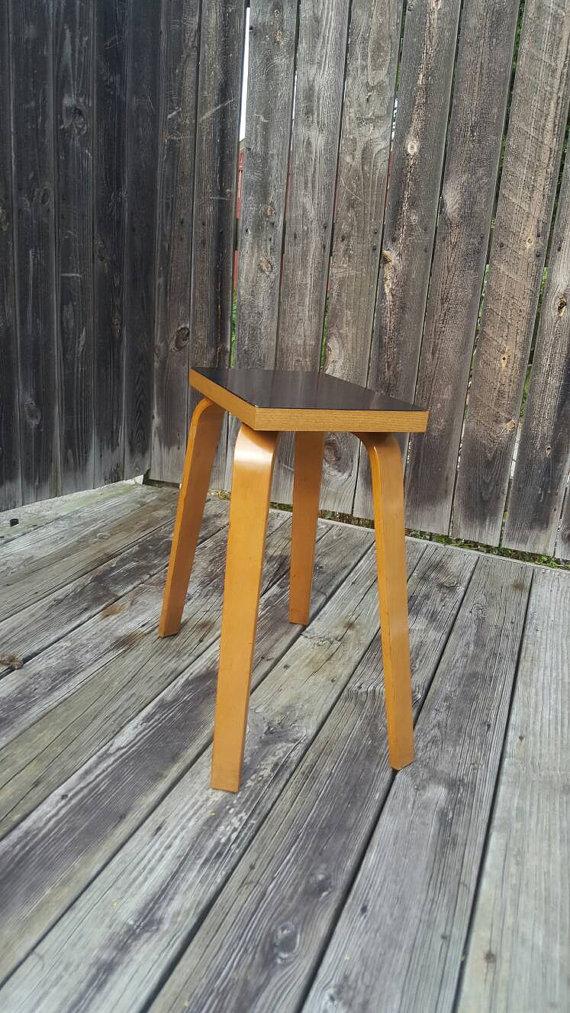 Refurbished 1940u0027s Thonet Black Bakelite Bentwood Table; Small Thonet  Bentwood Table; Spider Leg Table