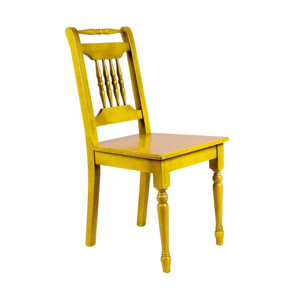 Esszimmerstuhl in Gelb Fichte Massivholz Jetzt bestellen unter ...