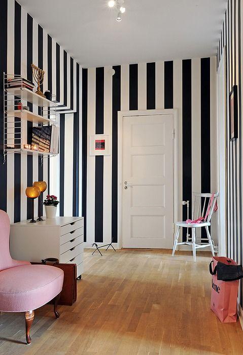 schwarz weiß gestreifte wand - google-suche   my new flat private, Hause deko