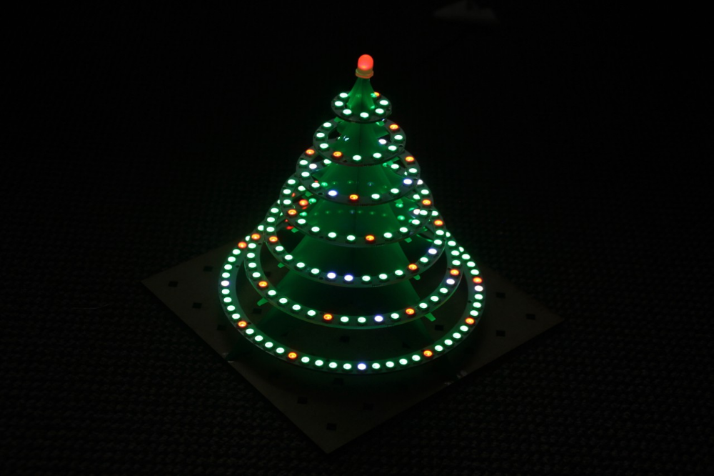 Inspired By A Hackaday Blog Post I Have Combined 7 Led Rings And A Teensy 3 5 Board To A Nice Led Christmas Tree Christmas Tree Led Christmas Tree Tree
