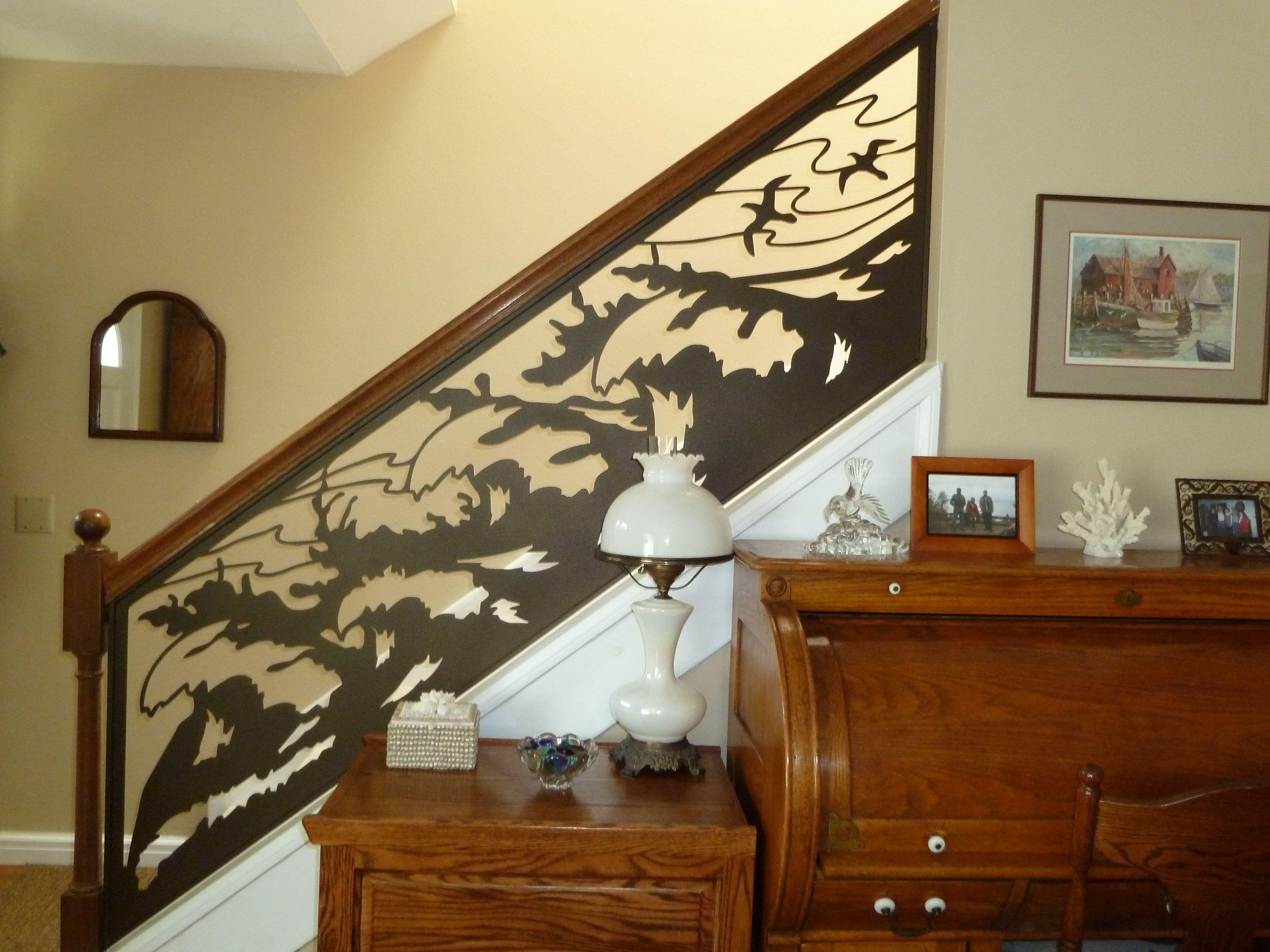Best Custom Ocean Wave Stair Railing By Naturerails Custom 640 x 480