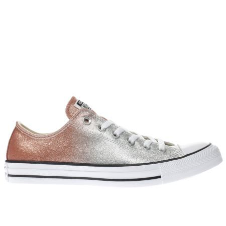 5e83290878564e womens converse silver all star ombre glitter ox trainers