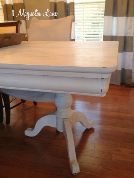 My Dining Room Table & Chairspainted White  White Chalk Paint Glamorous Chalk Paint Dining Room Chairs Design Decoration