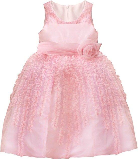 Isobella and Chloe FAIRY FLOSS Light Pink Ruffle Dress Girls 4-6x