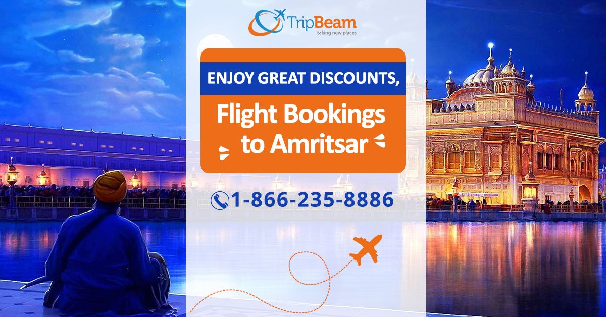 Enjoy great discounts on flight bookings to Amritsar. So don't spend more on #airtickets and enjoy your #holiday as much as possible. Visit us Today!  For more information: Contact us at: 1-866-235-8886 (Toll-Free)  #FlightsToAmritsar #BookTickets #CheapFlightsToIndia #Amritsar #punjab #india #incredibleindia #visitamritsar #beauty #travelling #travels #amritsaridiaries #Amritsar #AmritsarTravel #cheapflightsinfo #cheapflightsbooking #TripBeam
