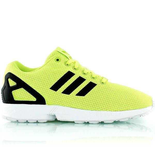 sale retailer 18d1d ba779 adidas ZX FLUX neon yellow