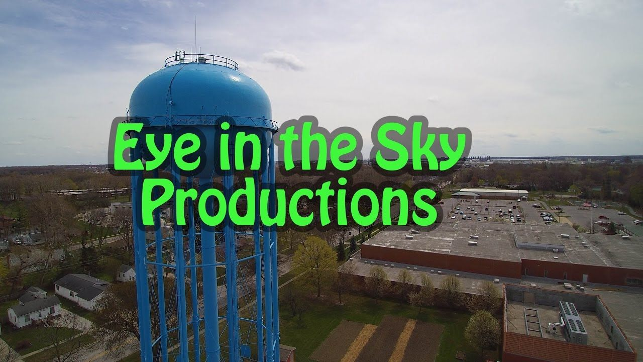 The Water Tower From 300ft Up Midland Mi In 4k From The Eye In The Sky Water Tower Midland Sky