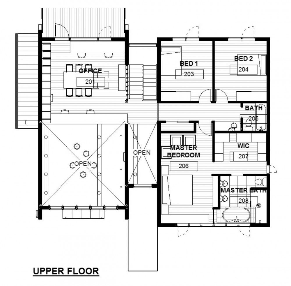 Architecture Houses Blueprints green concept home / modus v studio architects | house, bedrooms