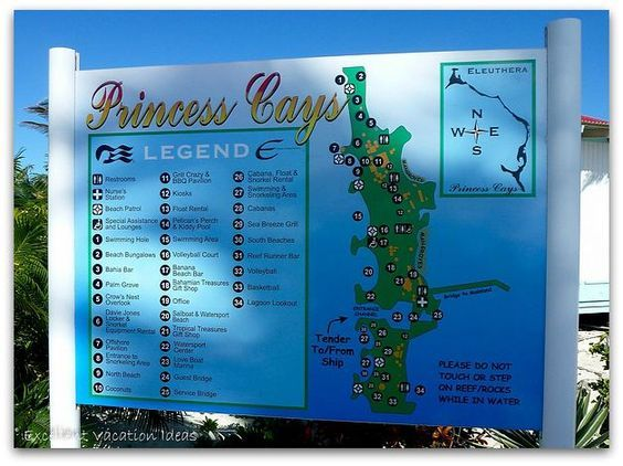 Getting around Princess Cays, Bahamas. Our first stop on our 5 day Caribbean cruise!