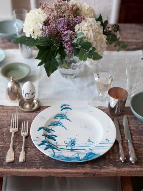 Setting up a beautiful table...
