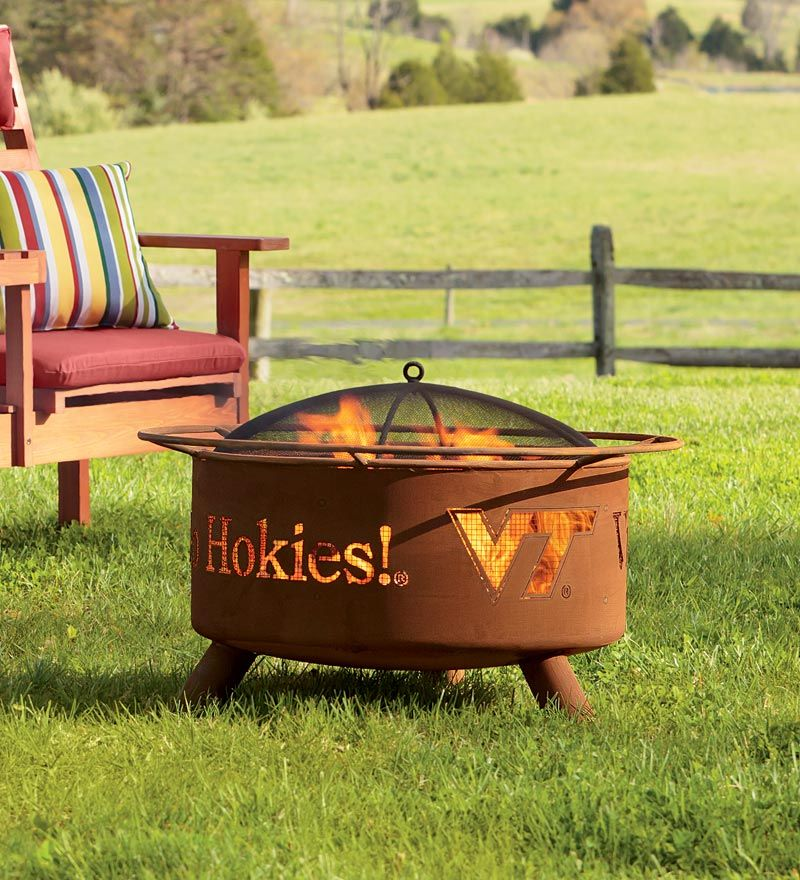Outdoor Collegiate Fire Pit With Team Logo Cutouts Gifts For The
