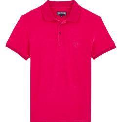 Herren Ready to Wear – Solid Frottee-Polohemd für Herren – Polohemd – Pacific – Rot – L – Vilebrequi