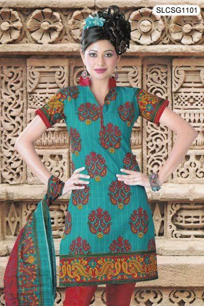 Vibrant Paisley Floral Salwar Suit