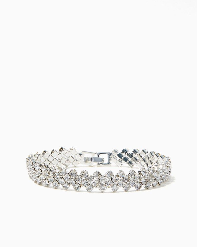 charming charlie Crystal Herringbone Bracelet UPC 450900223458