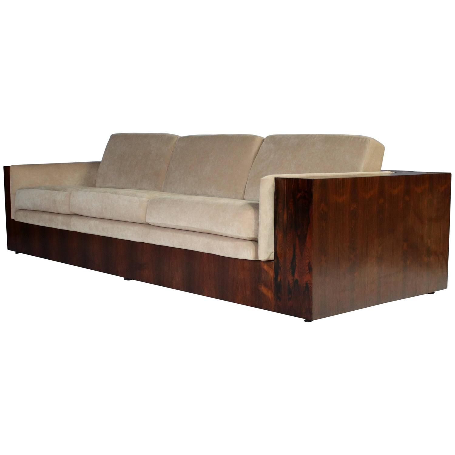 Milo Baughman Rosewood Case Sofa For Thayer Coggin Sofa Vintage
