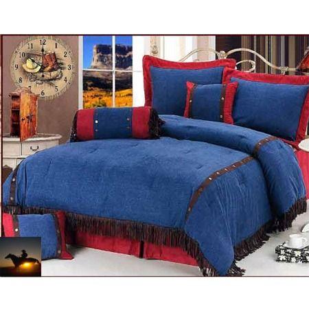 denim bedding | Blue Jean Western Comforter Set ...