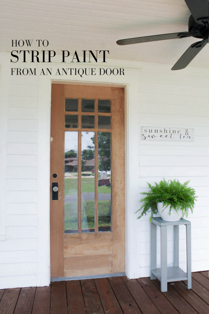 How to Strip Paint From an Antique Farmhouse Style Door - How To Strip Paint Off An Antique Wood Farmhouse Front Door *Home