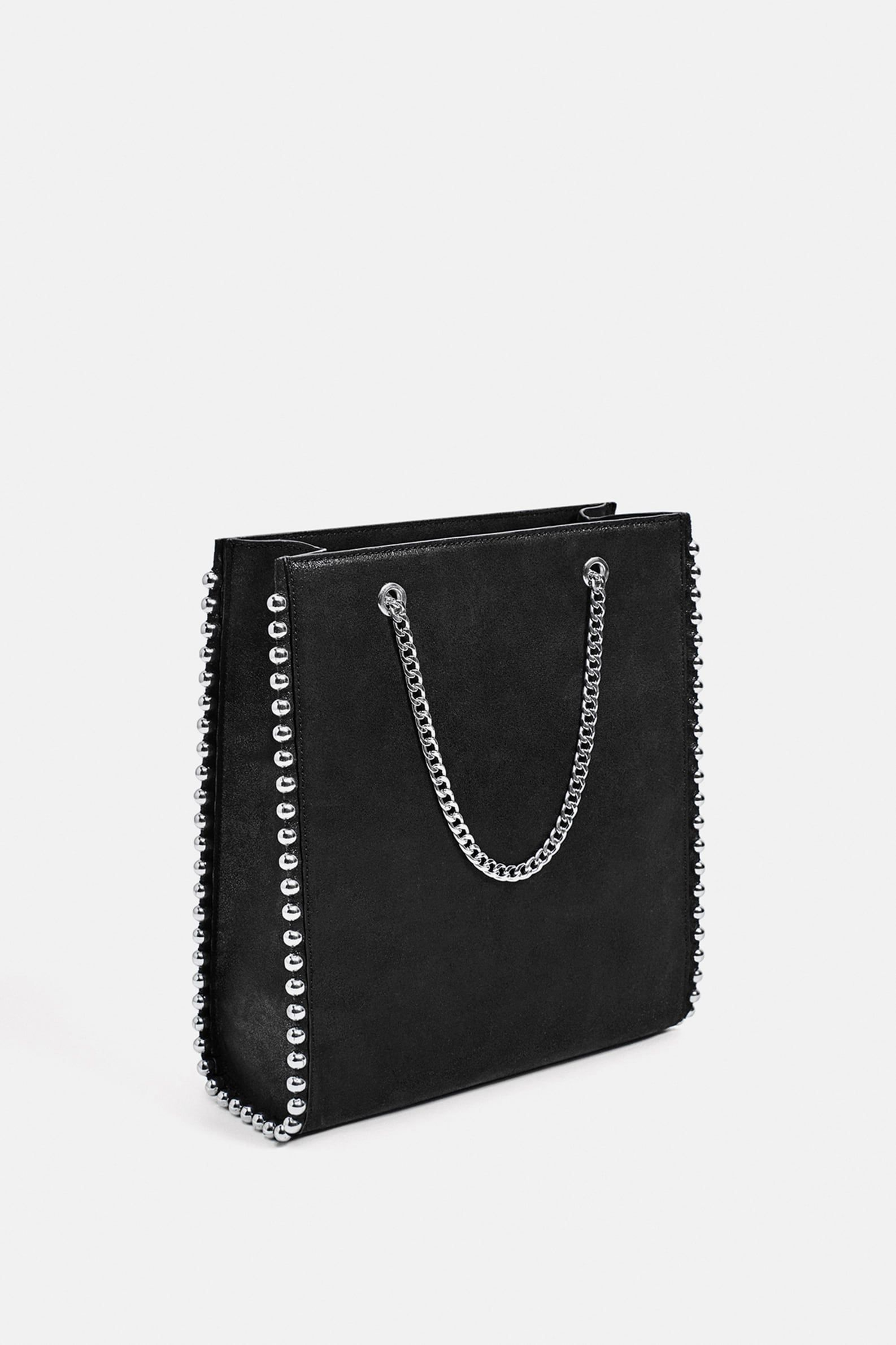 b08bc8ee2c9bf STUDDED TOTE BAG from Zara