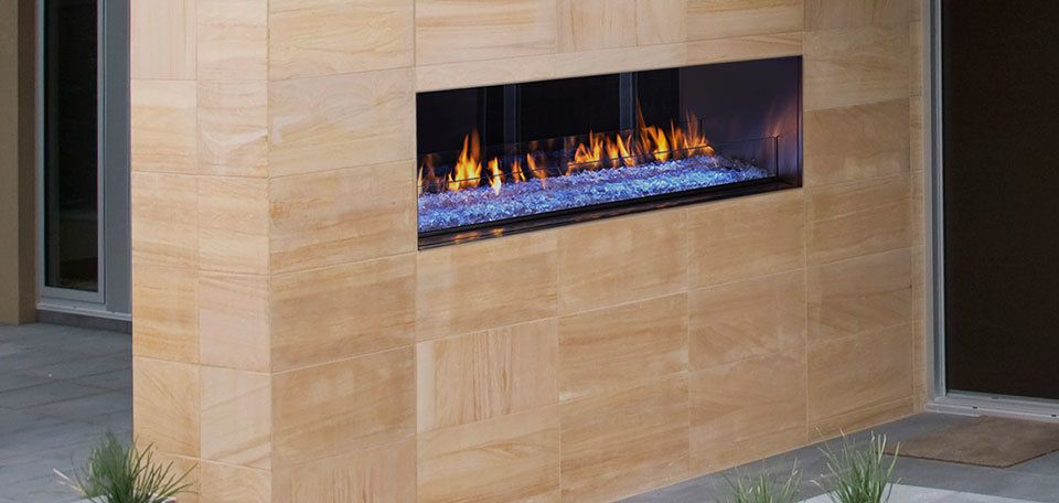 Majestic Palazzo See Through Gas Outdoor Fireplace 48 Gas
