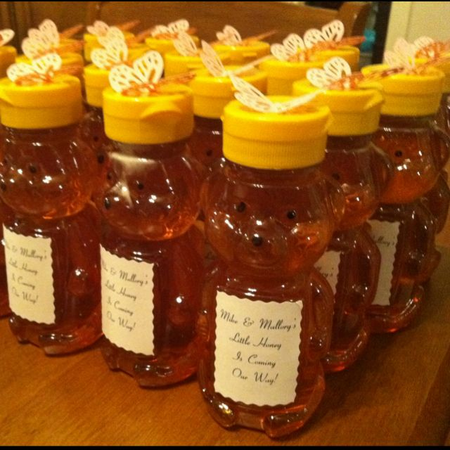3f3fa95ec Baby Shower favors (Winnie the Pooh themed)....so cute an easy favor idea  too if ur on a tight budget too food for thought lol