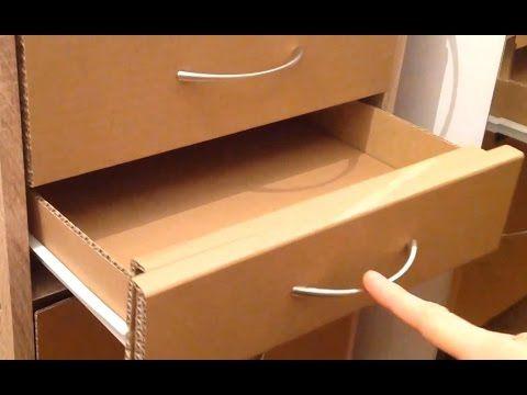How To Make A Cardboard Drawer Youtube Avec Images Meuble En Carton Mobilier De Salon Meuble En Carton Tuto