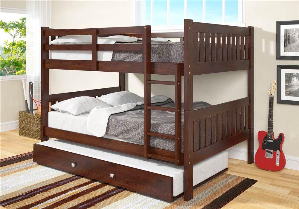 Full Over Full Mission Bunk Bed With Trundle S Izobrazheniyami