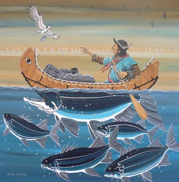 paintingMaxSMichael RobinsonThe Map Reader Native American