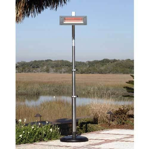 Fire Sense Stainless Steel Infrared Patio Heater (Glass Front)