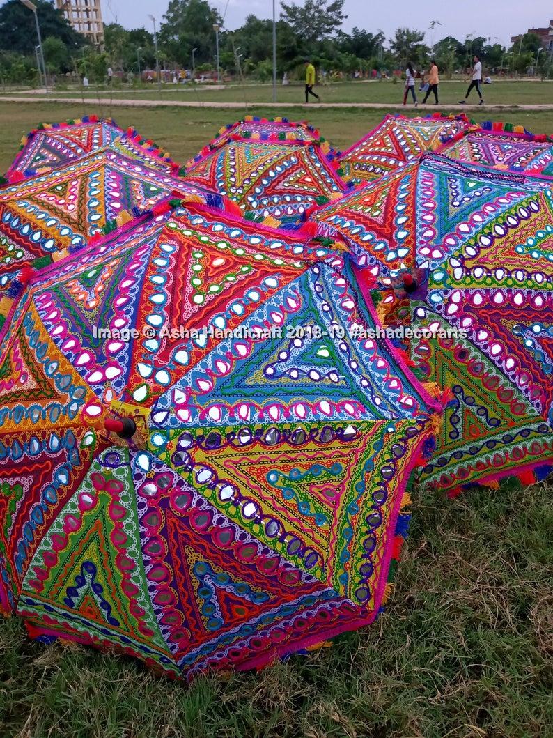 23/'/' White Lace Embroidered Parasol Sun Umbrella Bridal Wedding Decor