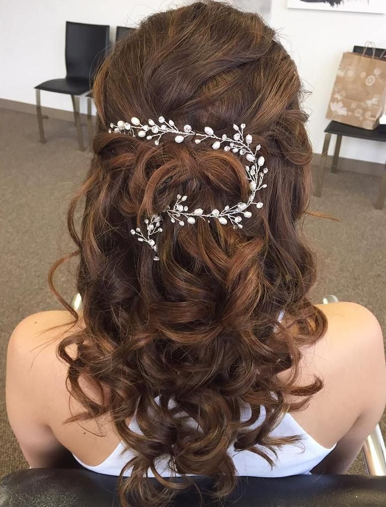 Half up half down wedding hairstyles u stylish ideas for brides