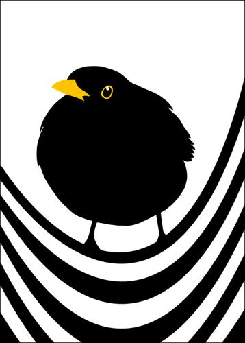 Poster King Blackbird - Design Lina Johansson