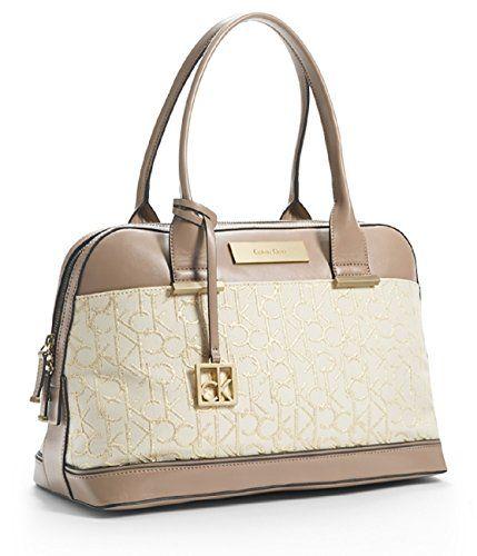 Calvin Klein Candice Logo Jacquard Lurex Dome Satchel Bag Handbag Purse (Stone Beige) Calvin Klein http://www.amazon.com/dp/B00UBCHWBW/ref=cm_sw_r_pi_dp_Cjdsvb05Q2JDF