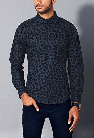 09edd0cc47 Slim Fit Leopard Print Shirt