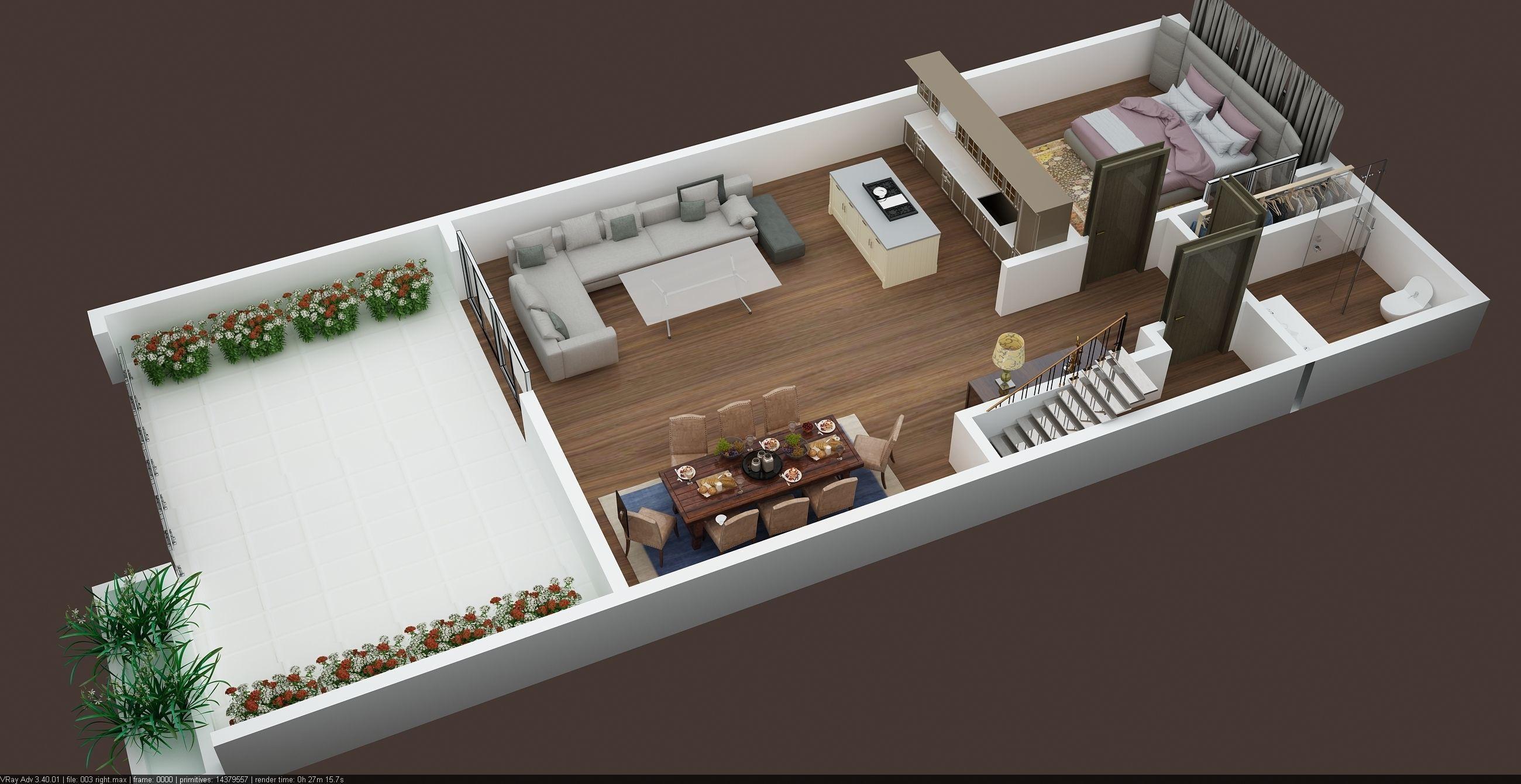 3d floor plans of appartment building all floors