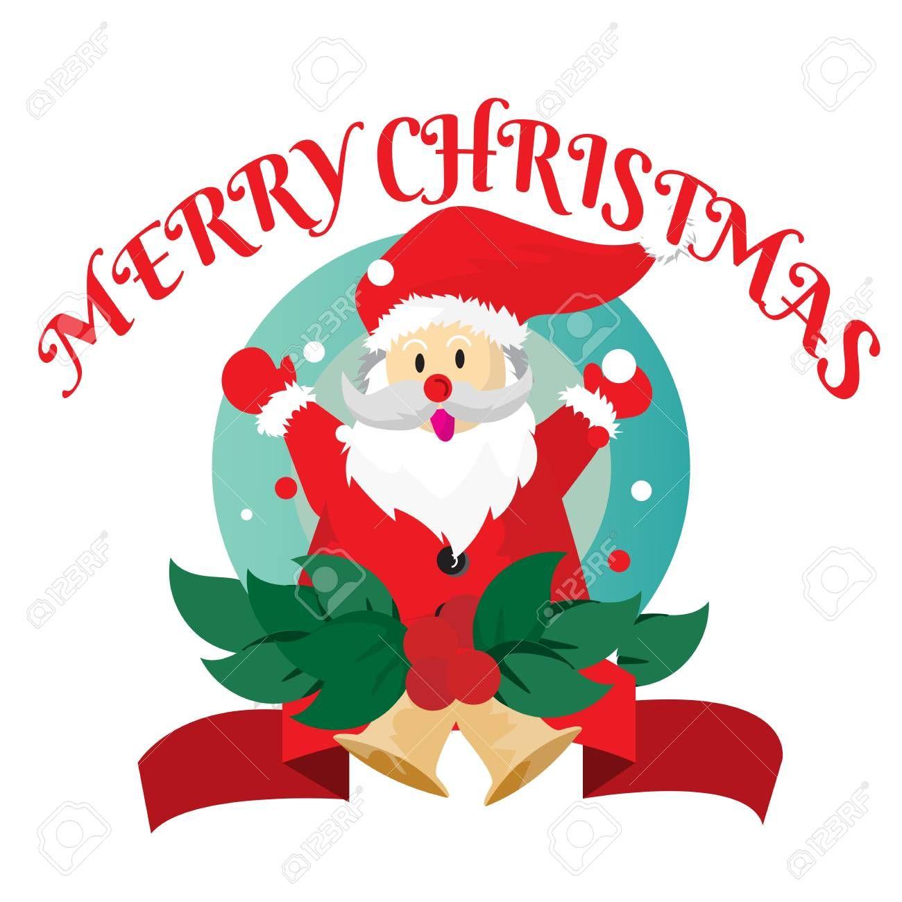 Santa claus Hello Merry Christmas Collection Logo icon